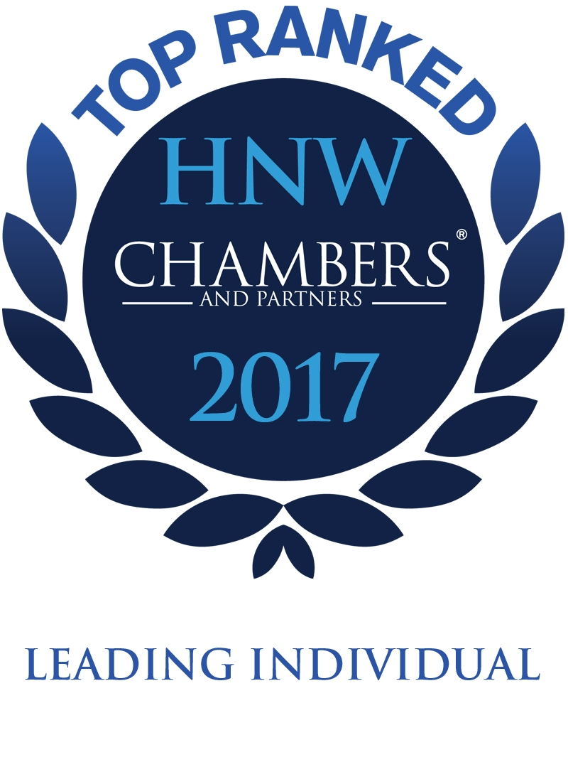 Top ranked High Net Worth Chambers and Partners 2017 leading individual logo