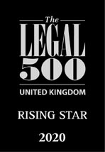 The Legal 500 rising star 2020 logo