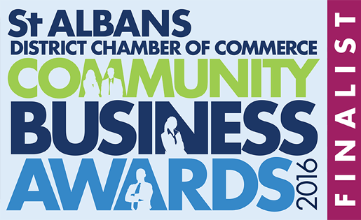 St Albans district chamber of commerce community business awards 2016 finalist logo
