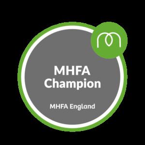 MHFA Champion logo