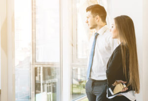 Personal Insolvency: People looking out of an office window