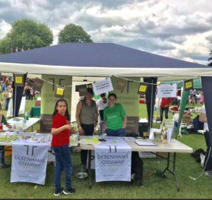 Debenhams Ottaway stall at the Radlett Festival