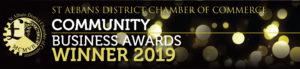 St Albans Chamber of Commerce Community Business Awards Winner 2019 banner