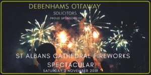 St Albans Firework sponsorship banner