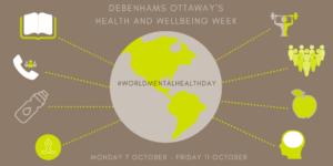 Debenhams Ottaway Health and Wellbeing week poster 2019