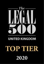 The Legal 500 Top Tier 2020 logo